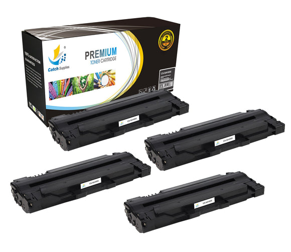 Catch Supplies Replacement Samsung MLT-D105L High Yield Black Toner Cartridge Laser Printer Toner Cartridges - Four Pack
