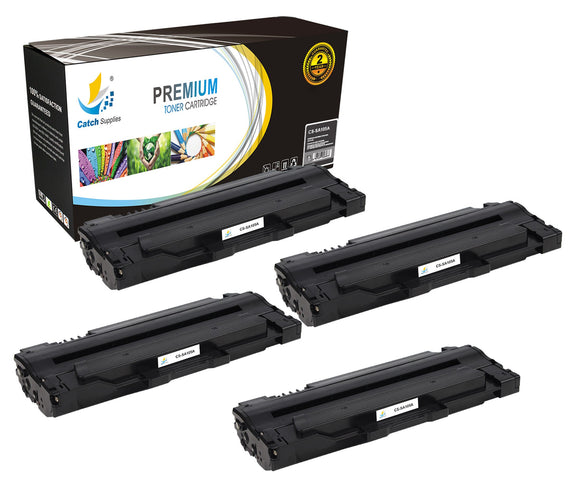 Catch Supplies Replacement Samsung MLT-D105S Standard Yield Laser Printer Toner Cartridges - Four Pack