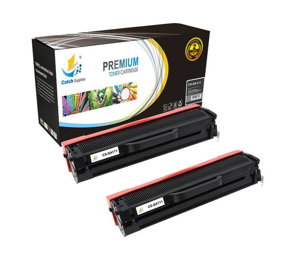 Catch Supplies Replacement Samsung MLT-D111S Standard Yield Laser Printer Toner Cartridges - Two Pack
