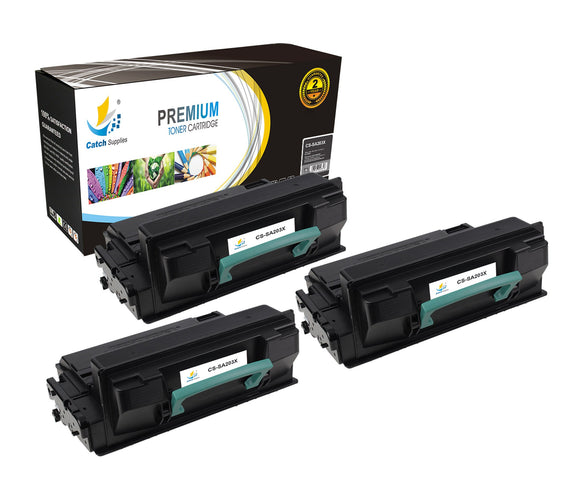 Catch Supplies Replacement Samsung MLT-D203L High Yield Black Toner Cartridge Laser Printer Toner Cartridges - Three Pack