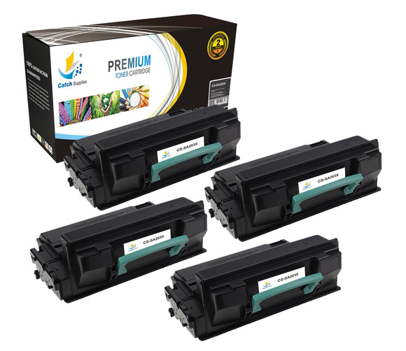 Catch Supplies Replacement Samsung MLT-D203L High Yield Black Toner Cartridge Laser Printer Toner Cartridges - Four Pack