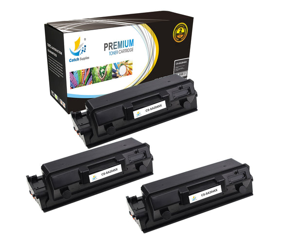 Catch Supplies Replacement Samsung MLT-D204E High Yield Black Toner Cartridge Laser Printer Toner Cartridges - Three Pack