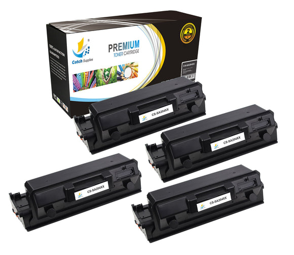 Catch Supplies Replacement Samsung MLT-D204E High Yield Black Toner Cartridge Laser Printer Toner Cartridges - Four Pack
