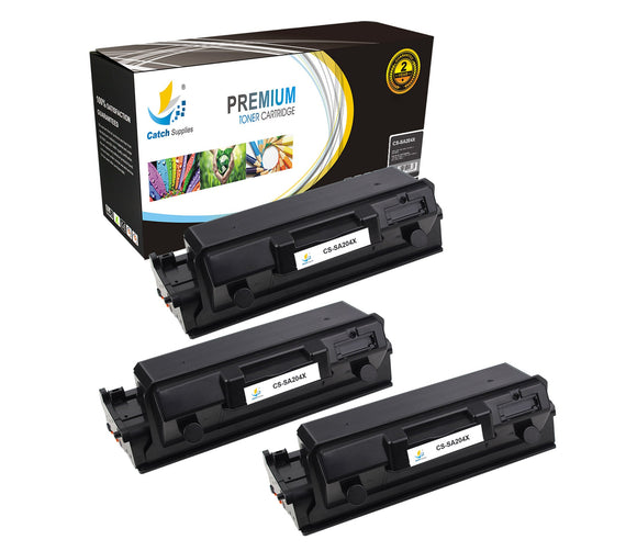 Catch Supplies Replacement Samsung MLT-D204L High Yield Black Toner Cartridge Laser Printer Toner Cartridges - Three Pack