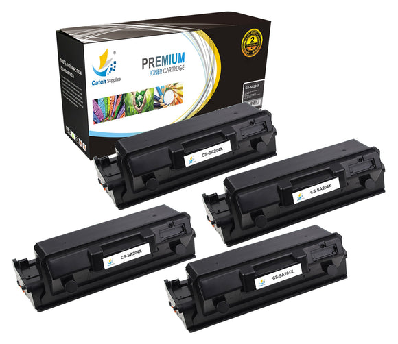 Catch Supplies Replacement Samsung MLT-D204L High Yield Black Toner Cartridge Laser Printer Toner Cartridges - Four Pack