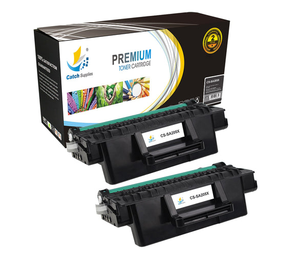 Catch Supplies Replacement Samsung MLT-D205L High Yield Black Toner Cartridge Laser Printer Toner Cartridges - Two Pack