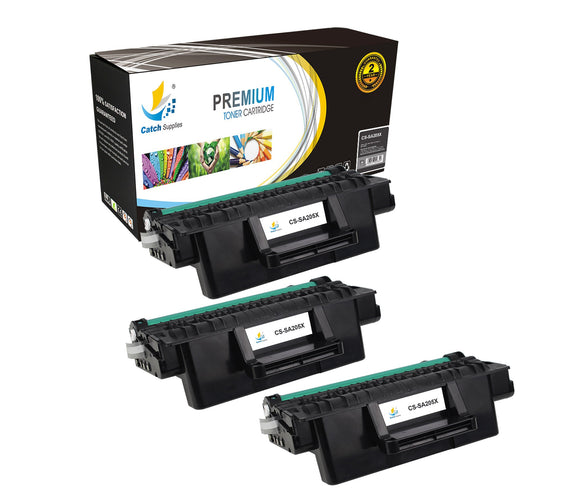 Catch Supplies Replacement Samsung MLT-D205L High Yield Black Toner Cartridge Laser Printer Toner Cartridges - Three Pack