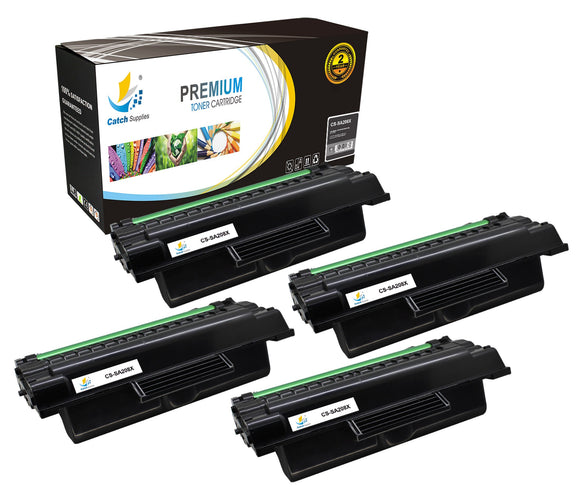 Catch Supplies Replacement Samsung MLT-D208L High Yield Black Toner Cartridge Laser Printer Toner Cartridges - Four Pack