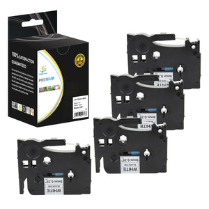 Catch Supplies Replacement Brother TZe-S231 Labels Labeling Tape - Four Pack