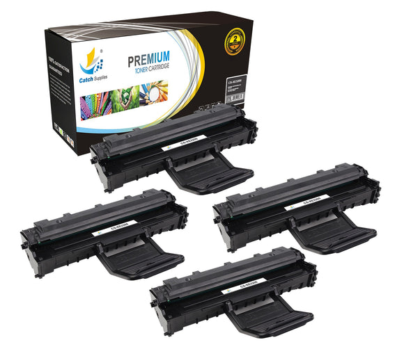 Catch Supplies Replacement Xerox 113R00730 Standard Yield Laser Printer Toner Cartridges - Four Pack