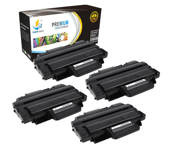 Catch Supplies Replacement Xerox 106R01374 High Yield Black Toner Cartridge Laser Printer Toner Cartridges - Four Pack