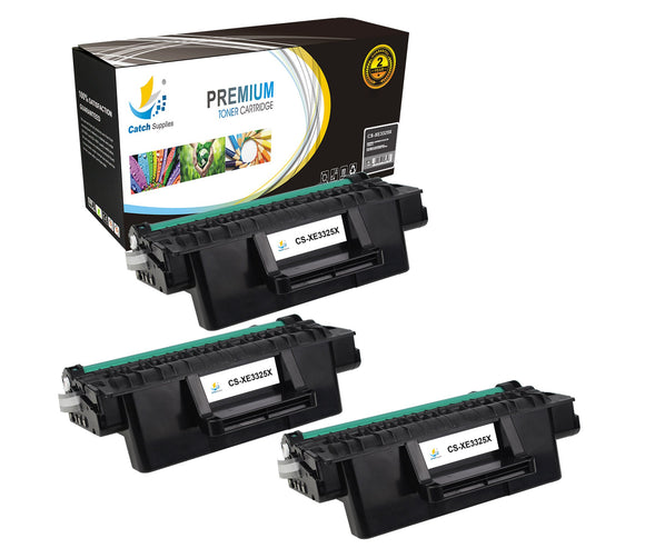 Catch Supplies Replacement 3325 ( 106R02313 ) Black Toner Cartridge 3 Pack