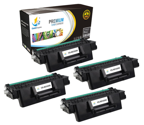 Catch Supplies Replacement 3325 ( 106R02313 ) Black Toner Cartridge 4 Pack