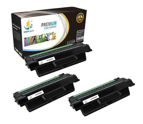 Catch Supplies Replacement 3635 ( 108R00795 ) Black Toner Cartridge 3 Pack
