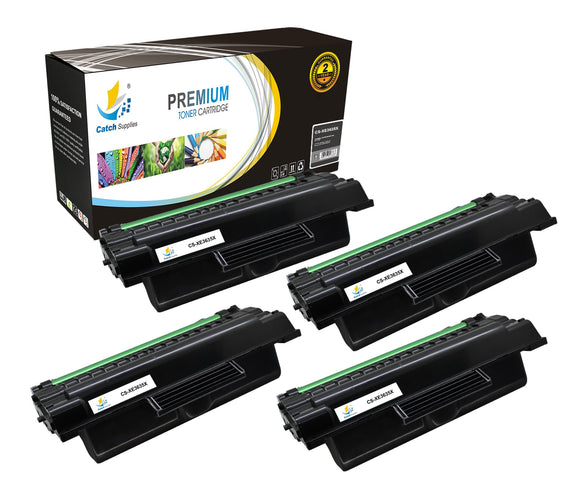 Catch Supplies Replacement Xerox 108R00795 High Yield Black Toner Cartridge Laser Printer Toner Cartridges - Four Pack
