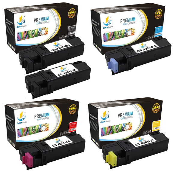 Catch Supplies Replacement Xerox 106R01480,106R01477,106R01478,106R01479 Standard Yield Laser Printer Toner Cartridges - Five Pack