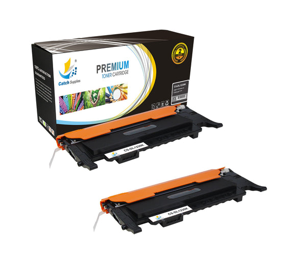 Catch Supplies Replacement 1230BK Black Toner Cartridge 2 Pack Set