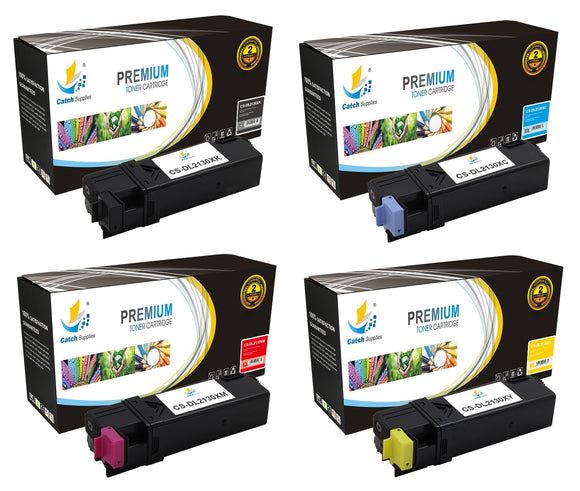 Catch Supplies Replacement 2130 Toner Cartridge 4 Pack Set