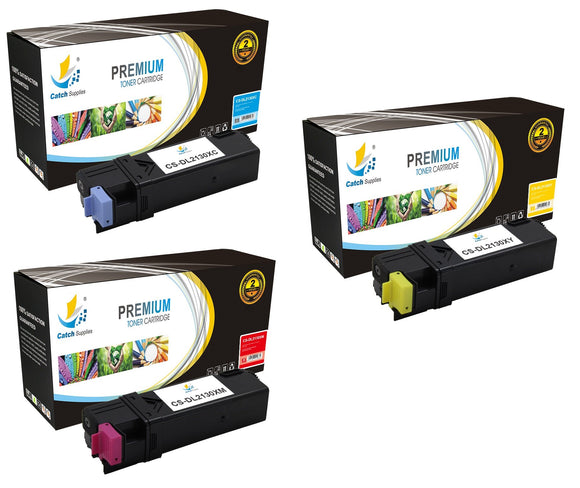 Catch Supplies Replacement 2130 Toner Cartridge 3 Pack Color Set