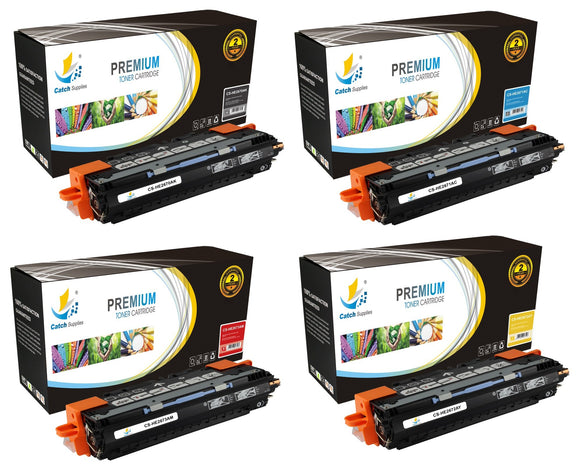 Catch Supplies Replacement HP Q2670A,Q2671A,Q2672A,Q2673A Standard Yield Laser Printer Toner Cartridges - Four Pack