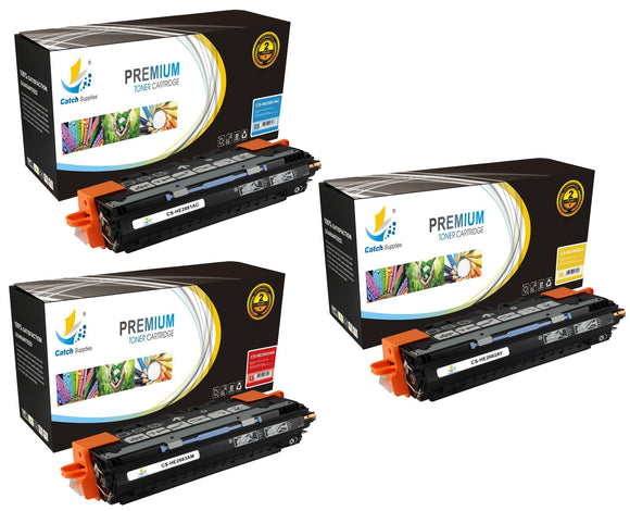 Catch Supplies Replacement HP Q2681A,Q2682A,Q2683A Standard Yield Laser Printer Toner Cartridges - Three Pack