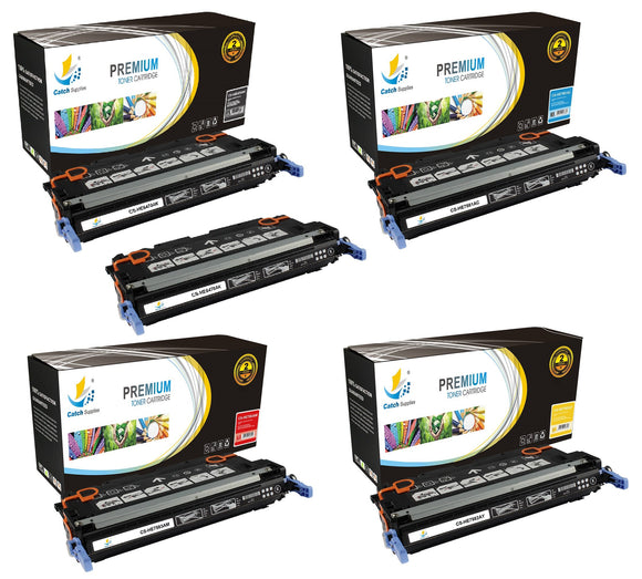 Catch Supplies Replacement HP Q6470A,Q7581A,Q7582A,Q7583A Standard Yield Laser Printer Toner Cartridges - Five Pack