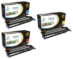 Catch Supplies Replacement HP Q6471A,Q6472A,Q6473A Standard Yield Laser Printer Toner Cartridges - Three Pack