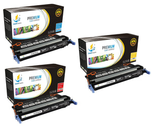 Catch Supplies Replacement HP Q7581A,Q7582A,Q7583A Standard Yield Laser Printer Toner Cartridges - Three Pack