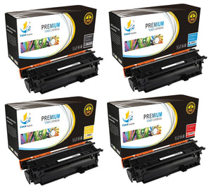 Catch Supplies Replacement HP CE250X,CE251A,CE252A,CE253A High Yield Toner Cartridges Laser Printer Toner Cartridges - Four Pack