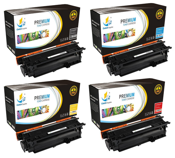 Catch Supplies High Yield Replacement 504X – 504A Toner Cartridge 4PK Set