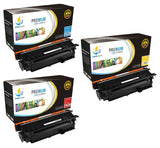 Catch Supplies Replacement HP CE401A,CE402A,CE403A, Standard Yield Laser Printer Toner Cartridges - Three Pack