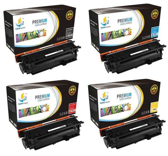Catch Supplies High Yield Replacement 507X – 507A Toner Cartridge 4PK Set