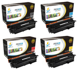 Catch Supplies Replacement HP CE400X,CE401A,CE402A,CE403A High Yield Toner Cartridges Laser Printer Toner Cartridges - Four Pack