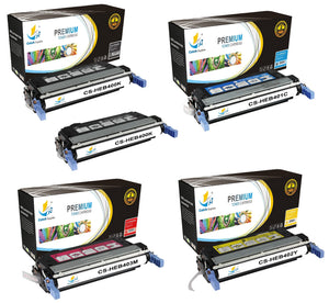 Catch Supplies Replacement HP CB400A,CB401A,CB402A,CB403A Standard Yield Laser Printer Toner Cartridges - Five Pack