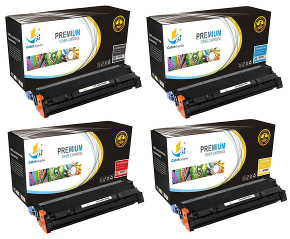 Catch Supplies Replacement HP C9730A,C9731A,C9732A,C9733A Standard Yield Laser Printer Toner Cartridges - Four Pack