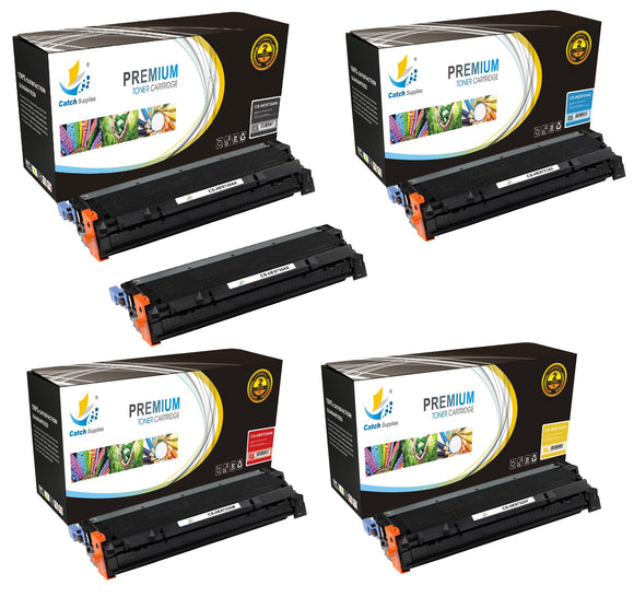 Catch Supplies Replacement HP C9730A,C9731A,C9732A,C9733A Standard Yield Laser Printer Toner Cartridges - Five Pack