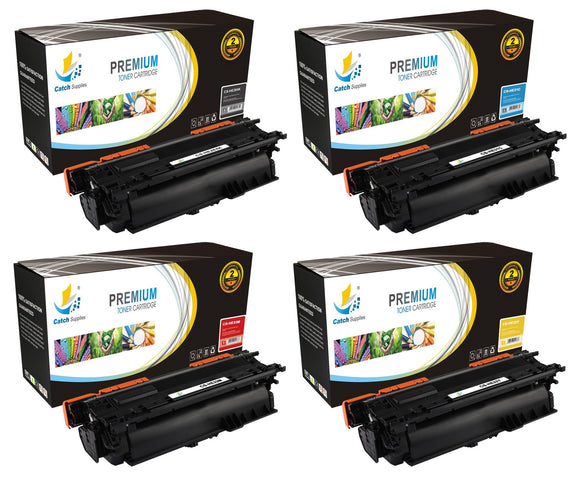 Catch Supplies Replacement HP CE264X,CF031A,CF032A,CF033A High Yield Toner Cartridges Laser Printer Toner Cartridges - Four Pack