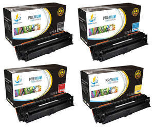 Catch Supplies Replacement HP CE270A,CE271A,CE272A,CE273A Standard Yield Laser Printer Toner Cartridges - Four Pack