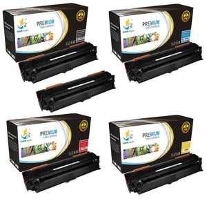 Catch Supplies Replacement HP CE270A,CE271A,CE272A,CE273A Standard Yield Laser Printer Toner Cartridges - Five Pack