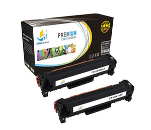 Catch Supplies Replacement HP CE410A Standard Yield Laser Printer Toner Cartridges - Two Pack