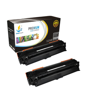 Catch Supplies Replacement HP CE740A Standard Yield Laser Printer Toner Cartridges - Two Pack