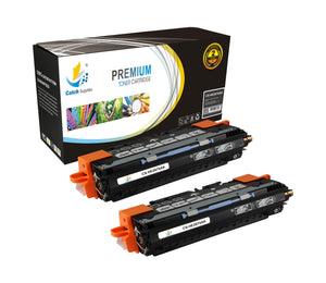 Catch Supplies Replacement HP Q2670A Standard Yield Laser Printer Toner Cartridges - Two Pack