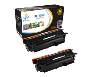 Catch Supplies Replacement CE400A – 507A Black Toner Cartridge 2 Pack Set