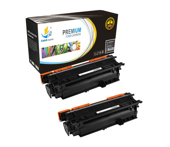 Catch Supplies Replacement HP CE400X High Yield Black Toner Cartridge Laser Printer Toner Cartridges - Two Pack