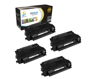 Catch Supplies Replacement HP CE255A Standard Yield Laser Printer Toner Cartridges - Four Pack