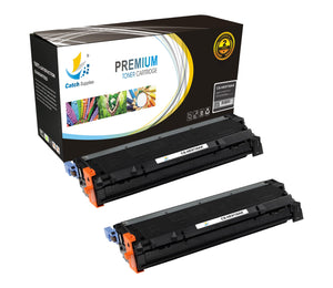 Catch Supplies Replacement C9730A – 645A Black Toner Cartridge 2 Pack Set