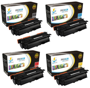 Catch Supplies Replacement HP CE260X,CE261A,CE262A,CE263A High Yield Toner Cartridges Laser Printer Toner Cartridges - Five Pack
