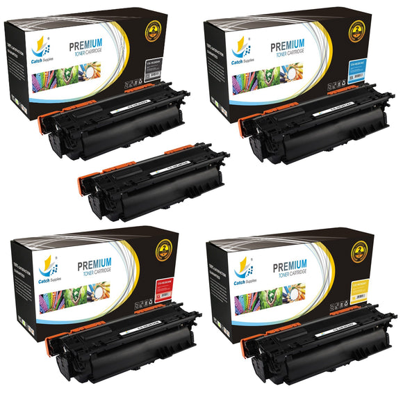 Catch Supplies High Yield Replacement 649X – 648A Toner Cartridge 5PK Set