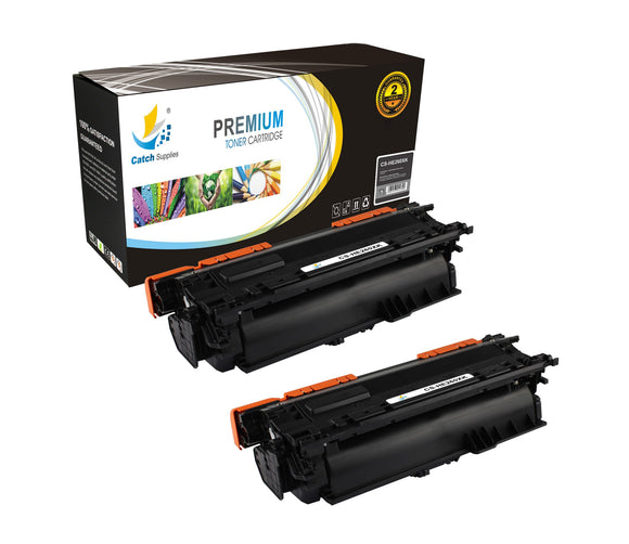 Catch Supplies High Yield Replacement CE260X – 649X Black Toner Cartridge 2 Pack Set
