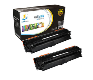 Catch Supplies Replacement HP CE270A High Yield Black Toner Cartridge Laser Printer Toner Cartridges - Two Pack